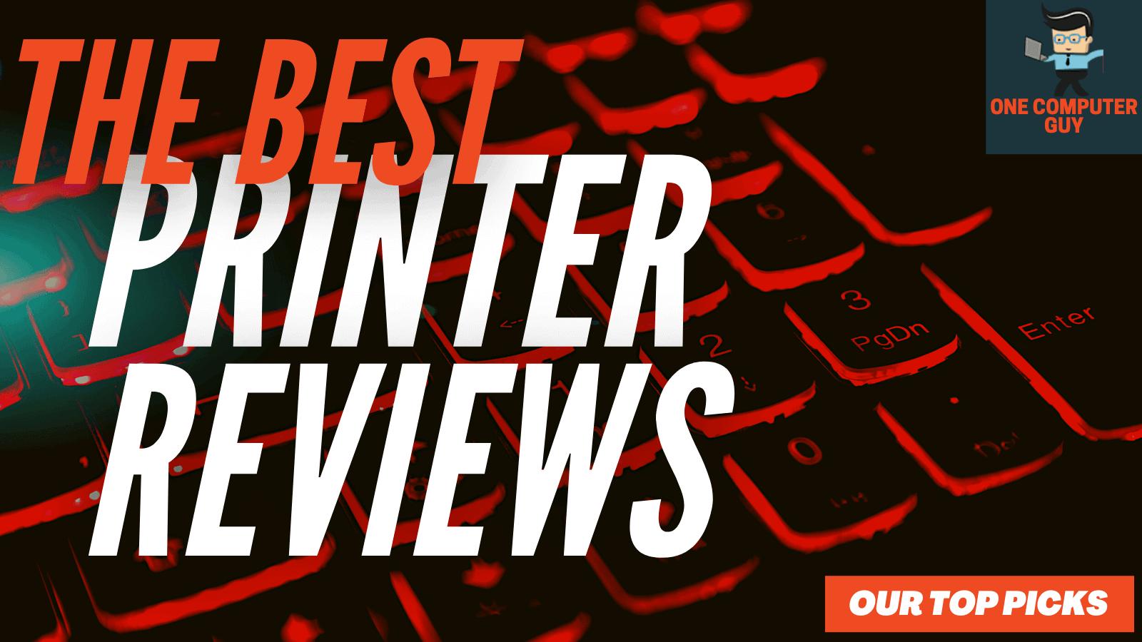 Printer reviews